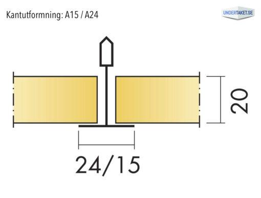 Undertaksplatta Focus A15/A24 från Ecophon, kantutformning B