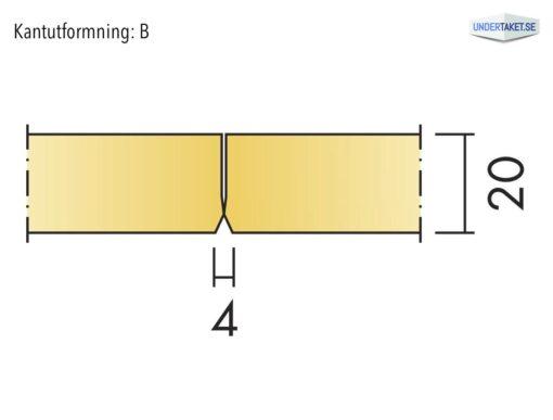 Undertaksplatta Focus B från Ecophon, kantutformning B