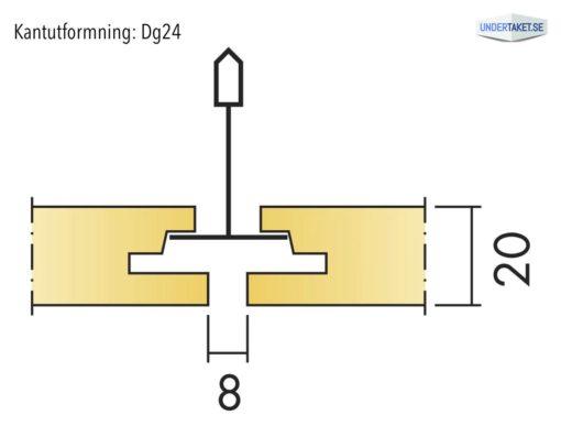 Undertaksplatta Focus Dg24 från Ecophon, kantutformning Dg
