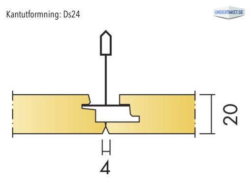 Undertaksplatta Focus Ds24 från Ecophon, kantutformning Ds