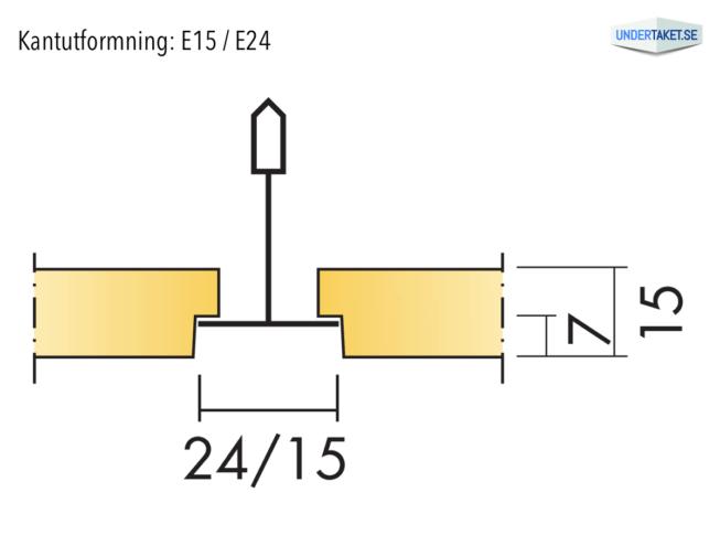 Undertaksplatta Gedina E15/E24 från Ecophon, kantutformning E