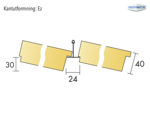 Undertaksplatta Focus Ez24 från Ecophon, kantutformning Ez