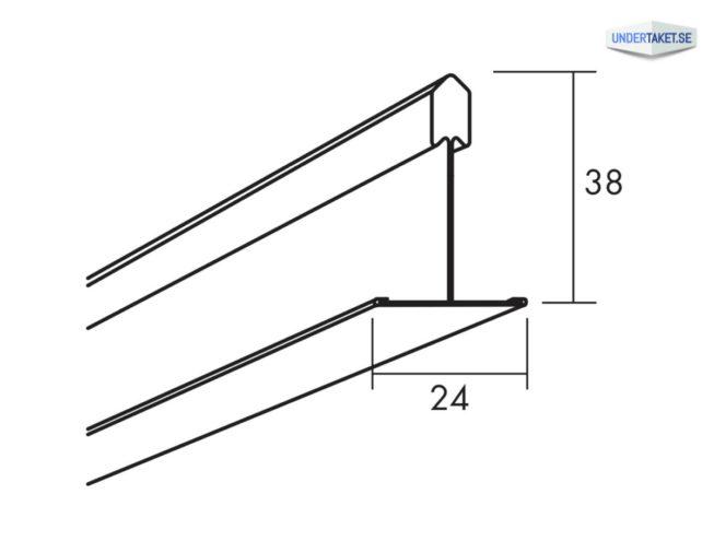 Bärverksprofil, T24 Korridorprofil
