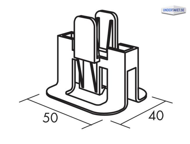 Hygiene Clips, Undertak, tillbehör, bärverk, C3 Hygiene Clips 40 mm, Hygien