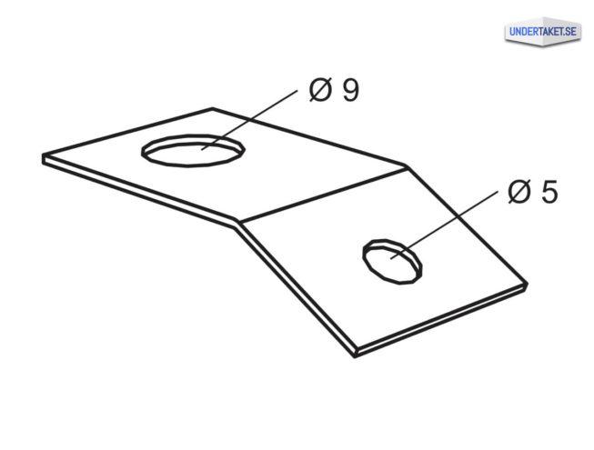 Fästbleck för pendlar, Justerbara pendlar, Hängen, Akustiktak, Undertak, tillbehör, bärverk, Fästbleck, Undertaket.se, Ecophon, Akustikmontage