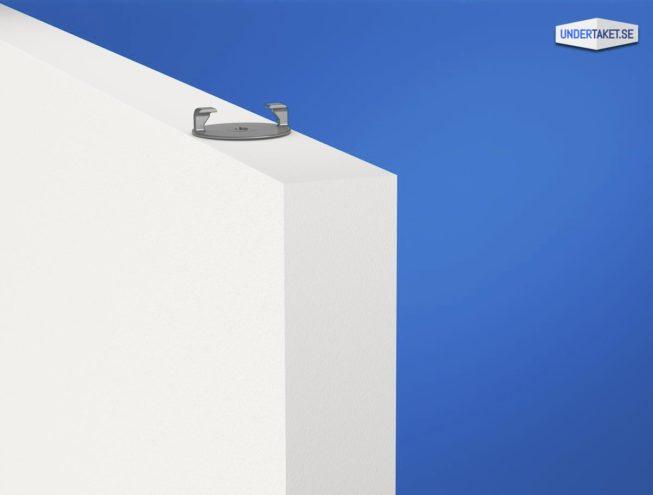 Upphängning frihängande undertak, Baffelprofil, Solo Baffle, Ecophon Connect