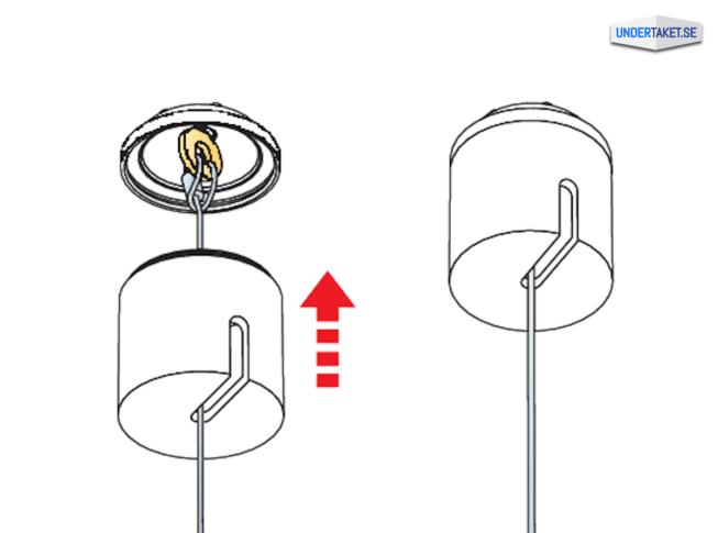 Upphängning frihängande undertak, Takkopp, Ecophon Connect