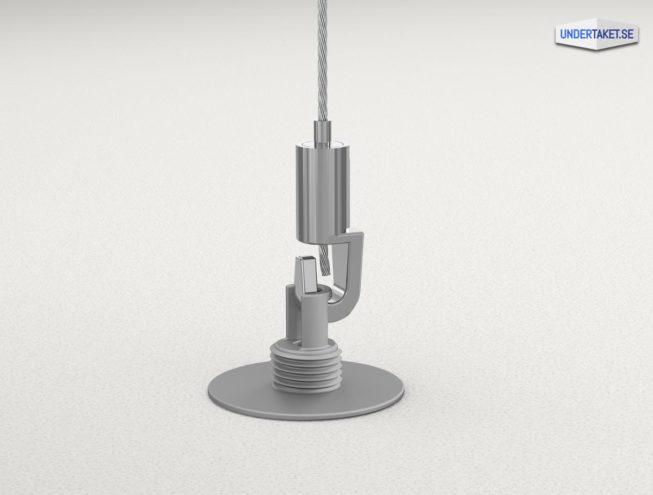 Wire-upphängning, Upphängning frihängande undertak, Wireupphängning, Ecophon Connect