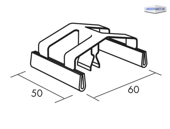Flexiform Clips (mot bärprofil), Undertak, tillbehör, bärverk, Ecophon, Flexiform Clips, Undertaket.se