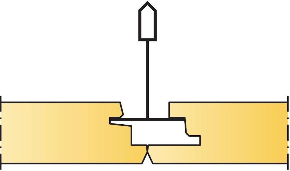 Undertaket.se, Akustikskivors olika kantutformningar, Kantutformning Ds, Ecophon, Akustikskivor, Undertaksplattor, Köp billigt online